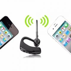 Bluetooth Business Stereo Earphones  Wireless Universal Voice Report Number Handfree Earphone Black