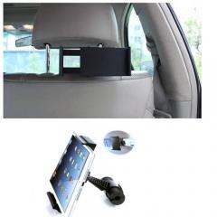 360 Degree Car Back Seat Headrest Mount Holder for iPad Mini/1/2/3/4/Air Galaxy Tablet Black