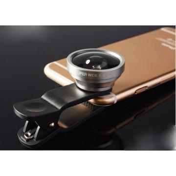 Universal 0.4X Super Wide Angle Lens Clamp Telescopic Lens Selfie Cam Camera Lens Silver