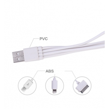 4 in 1 Charging Cable White