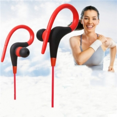 3.5mm Wired Ear Hook Style Sport Earphones for Mobile Phone/MP3/CD Players Red
