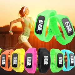 Sport Wrist Pedometer Watch Digital LCD Run Outdoor Step Walking Distance Calorie Counter Black
