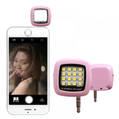 Cell phone LED Fill Light Mobile Phone External Flash Selfie Device Takes a Photo to Fill the Light Pink