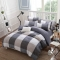 New summer of four pieces of bedding sets of simple Ocean Star quilt style 4pcs size    6*6 Grid 5*6