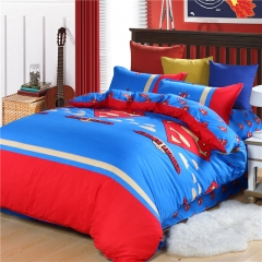 Home Bedroom goods Superman 4pcs Duvet Cover Sheet Bed Linen Bedclothes Pillowcase size 6*6 Superman 5*6
