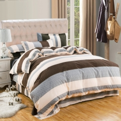 New Summer Duvet Cover 4PCS Yznshh Bedroom Goods Bed Sheet 100% Polyester Fibre size 5*6 Grid 5*6