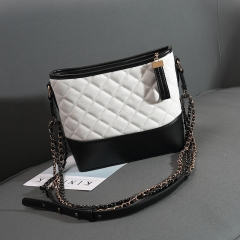 Women's Bag Fashion Shoulder Bag High Quality PU Blue Black/white 28cm