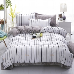 100%Polyester 4pcs Duvet Cover Sheet Bed Linen Bedclothes Pillowcase Contracted style Contracted style 5*6