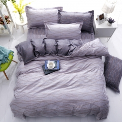 Duvet Cover 100%Polyester 4pcs Bedroom Sheet Bed Linen Bedclothes Pillowcase Waves 5*6