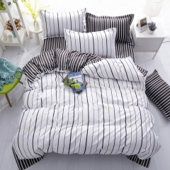 Love Home Duvet Cover 100%Polyester 4pcs Bedroom Sheet Bed Linen Bedclothes Pillowcase waves 5*6