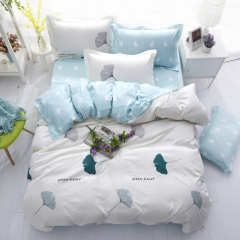 Love Home Duvet Cover 100%Polyester 4pcs Bedroom Sheet Bed Linen Bedclothes Pillowcase Leaves 5*6