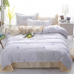 Love Home Duvet Cover 100%Polyester 4pcs Bedroom Sheet Bed Linen Bedclothes Pillowcase Love 5*6