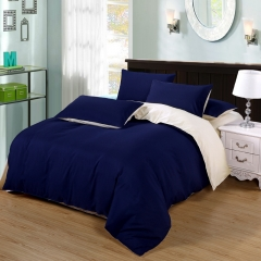 Now  Duvet Cover 100% Polyester 4PCS Bedding set Green Pillow Dark blue Dark blue/Beige 4*6