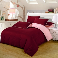 Now Duvet Cover 100% Polyester 4PCS Bedding set Green Pillow Wine red 4*6