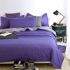 Now Duvet Cover 100% Polyester 4PCS Bedding set Green Pillow Purple 4*6