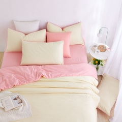 Now Duvet Cover 100% Polyester 4PCS Bedding set Green Pillow Pink 6*6