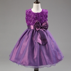 Lovely Baby Pageant Clothes Fashion Beautiful Tutu Girl Dress Purple 90
