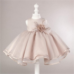 Kids Girl Dress Baby Pageant Clothes Wedding Party Gown Factory Sale As Picture 100