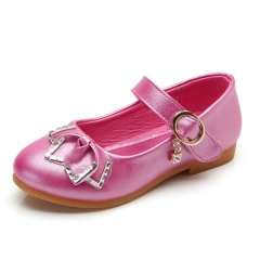 New Kids Girl Shoes Pink Baby Girl Leather Shoes Fuchsia Eur 26