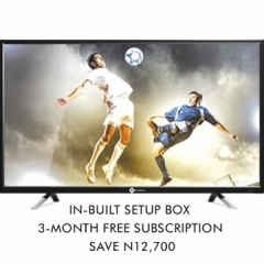 """StarTimes 40"""" + 3-Month Free Subscription black"""