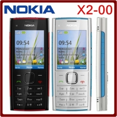 Original Nokia X2-00 Bluetooth FM JAVA 5MP Unlocked Mobile Phone Hot selling in Poland red on black