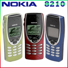 Original Nokia 8210 Unlocked Mobile Phone 2G Dualband GSM 900/1800 GPRS Classic Cheap Cell phone black