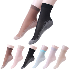 10 pair Art Velvet Silk Womens Socks Soft Non Slip Sole Massage Wicking Slip-Resistant Autumn Sock 10 pair colors random one size