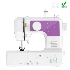 Home Tool Portable Double Speed Automatic Thread Mini Sewing Machine with Lighting Lamp purple