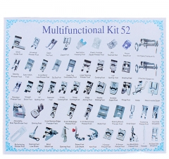 Universal 52pcs Domestic Sewing Machine Presser Foot Feet Kits Set Tool
