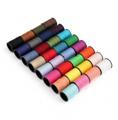 60PCS Sewing Thread Mixed Colors Sewing Kit For Sewing Machine Heavy Duty Metal Bobbin