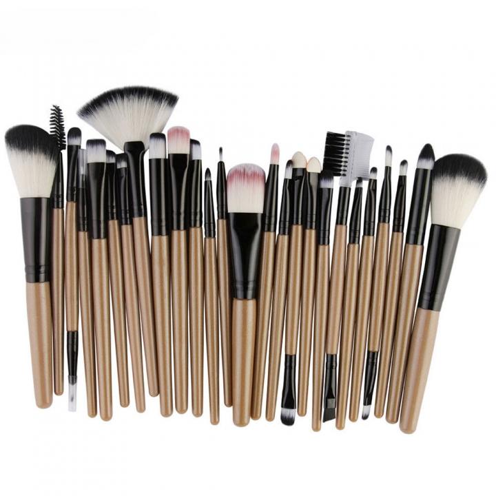 55ab5af67e94 25pcs Fashion Ladies Cosmetic Makeup Brush Blusher Eye Shadow Brushes Set  Kit gold