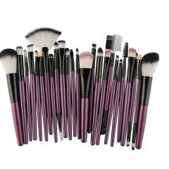 25pcs Fashion Ladies Cosmetic Makeup Brush Blusher Eye Shadow Brushes Set Kit purple
