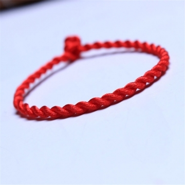 Handmade Jewelry Red Rope Bangle Lucky Bracelets for Women and Men on Hands or Legs Red one size