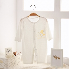 Baby Clothing for Boys and Girls One-piece Jumpsuit for Babies Long sleeve Creamy-white 52cm