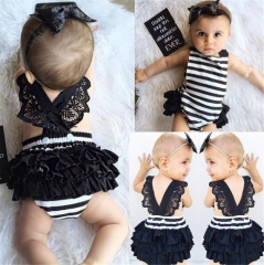Cute Kids Clothes Sleeveless Jumpsuits Dress for Baby Girls Baby Clothing As Picture 70cm