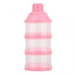 Portable Milk Powder Box Dispenser Food Container Storage Feeding Baby Kid Toddler pink one size