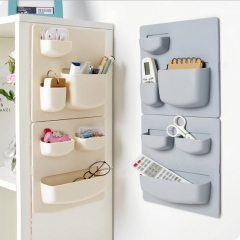 Plastic Storage Rack Self-Adhesive to Wall Carrier Save Space