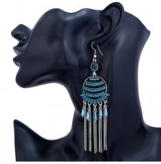 Bohemia drop earring long Tassel Antique earbob women jewellery bohemia earrings red one size