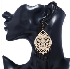 Fashion water drop earrings women party jewellery tassel big earrings gold one size