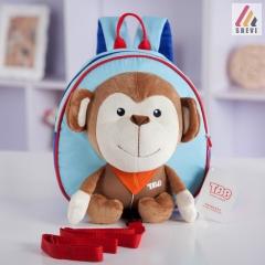 Toddler Kids Children Boy Girl Anti-lost Cartoon Animal Backpack School Bag Rucksack Monkey same size