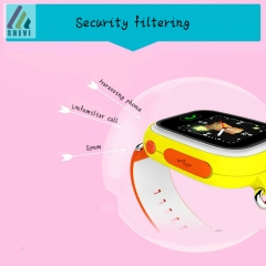 Children Kids WIFI Educational Smart Watch Telephone Early Learning Touch Screen GPS yellow one size