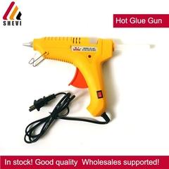 Mini 60W/100W Hot Glue Gun Hot Melt Glue Gun with 10pcs Glue Sticks for Quick yellow one size