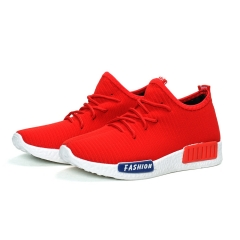 2018 New Brand Running Shoes Mens Sport Sneakers Quality Male Jogging Shoes Black Red Red 35