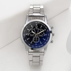 Men Watch Fashion Geneva Analog Quartz Leisure Sports Business Steel Strip Watch Black