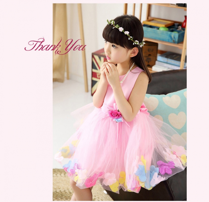 9333aa5ba049 Baby princess flower dress infant girl clothes kid wedding party ...