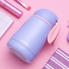 Rabbit Thermo Cup Stainless Steel kid Thermos bottle Mug Cute Thermal vacuum flask child Tumbler blue one size