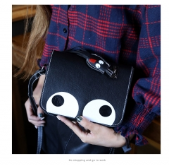 new women's bag Korean version small square bag single shoulder small bags mobile phone bag black one size