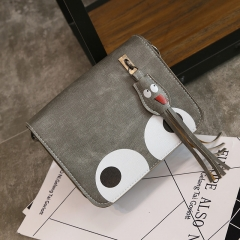 new women's bag Korean version small square bag single shoulder small bags mobile phone bag grey one size