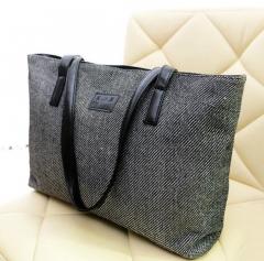 4 Colors Big Bags Canvas Handbags Clutch Shoulder Bag Large Lady Tote Bolsas Femininas With Zipper black one size
