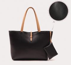 pu Leather Handbags Big Women Bag High Quality Casual Female Bags Trunk Tote Brand Shoulder Bag black one size